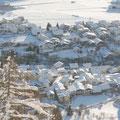 das winterlich verschneite Burgeis