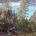 """zum Reschensee, wo wir teils auf """"geile"""" Trails stießen"""