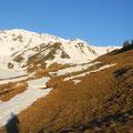 Ski am Rucksack bis zu den Stilfseralmen