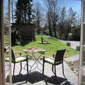 Die Terrasse - mit schönem Ausblick
