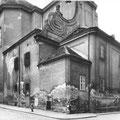 Blick auf die Kirche Richtung Sakristei vor der Renovierung, 1950