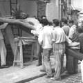 Renovierung der Kreuzigungsgruppe, 1953