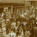 Fronleichnamsprozession in der Barnabitengasse, ca. 1914