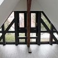 Dachgeschossausbau mit neu verglastem Fachwerkgiebel