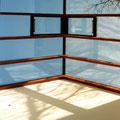 Detail, verglaste Ampel zur Belichtung des Treppenhauses