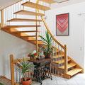 Detail, Treppenhaus mit offener Treppe