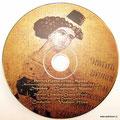 CD печать шелкография 1 металлизированный Pantone + CMYK по серебру диска. Печать с эффектом под старую фреску.