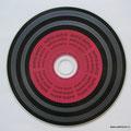 """CD печать CMYK ОФСЕТ + белая подложка, Печать с эффектом """"под винил"""". С обозначенными дорожками."""