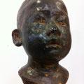 frp製の頭像、ブロンズ風塗装