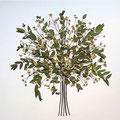 Ramo de novia de manzanilla y eucalipto. 45x45cm.