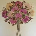 Bouquet peonías 60x60 cm.