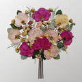 Bouquet simétrico y ovalado con rosas. 50x50cm.