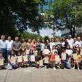 Garching - Nxënësit me Mësuesen e tyre Valentgina Coli (Pjesmarrës nga LAPSH-i z. Milazim Ukaj - kryetar dhe z. Rexhep Nikçi - arkatar)