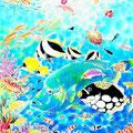 ちゅら海ドリーム/ED88/額装サイズ750×640mm/¥86,400(税込)