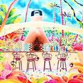 中庭のレストラン/ED88/額装サイズ665×570mm/¥64,800(税込)