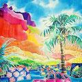 風の島モーレア/ED88/額装サイズ570×670mm/¥64,800(税込)