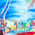 Tropical wind/ED88/額装サイズ855×625mm/¥108,000(税込)