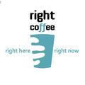 "Логотип, павильон и презентация для кофе-поинта ""Right Coffee"", Москва, 2014 г."