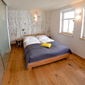 Schlafzimmer mit en Suite-Bad - Ferienwohnung Willi bei Juste in Schotten - Eichelsachsen