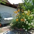 Garten Ferienhaus bei Juste