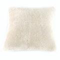 Coussin en peau de mouton blanc
