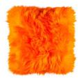 Coussin en peau de mouton orange