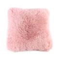 Coussin en peau de mouton rose poudré