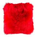 Coussin en peau de mouton rouge