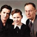 Fritz und Grete Körner mit Ihrem Sohn Friedrich (coloriert mit myHeritage) Foto: Privat