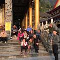 Unterricht in einem Tempel