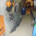 Zone de stockage du matériel à Emosson (74)