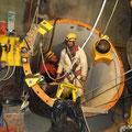 Sortie des techniciens du puits blindé de Emosson (74)