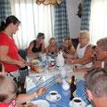 Kuchen und Kaffe mit Wiener Gästen