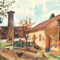 Wien *1902 - †1969 Wien Pettendorf NÖ, 1963, BL 31 x 38,5 cm, Aquarell auf Papier