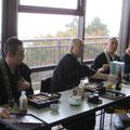 峰道レストランにてお山の住職方やご来賓とお昼ご飯。