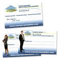 Création des cartes de visite personnalisées Recto-verso pour les agents de Courtais immobilier