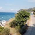 fahrt an der Küstenstraße nach Athen