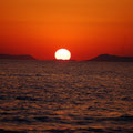 Sonnenuntergang im Meer in Eleonas