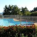 La piscine du camping à la ferme Ardèche Rosières