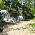 Emplacement camping à la ferme Ardèche Rosières