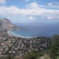 Gigantische Aussicht vom Monte Pellegrino