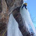 vorsichtig Klettern!