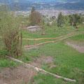 neuer Zaun im Ziel