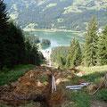 Baustelle in Lenzerheide