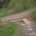 Zaun und Ausfahrt
