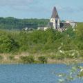 La collégiale vue des marais de Picquigny