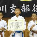 H30拳友会団体組手準優勝(花塚、圷、屋代選手)