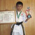 平賀綾人選手 第54回糸東会全国大会 小学5年男子形の部 優勝