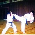水城高校空手部時代の広太先生と長山先輩(1995年)