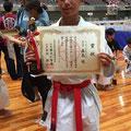 森島琉選手2017年8月 糸東会全国大会 形 敢闘賞